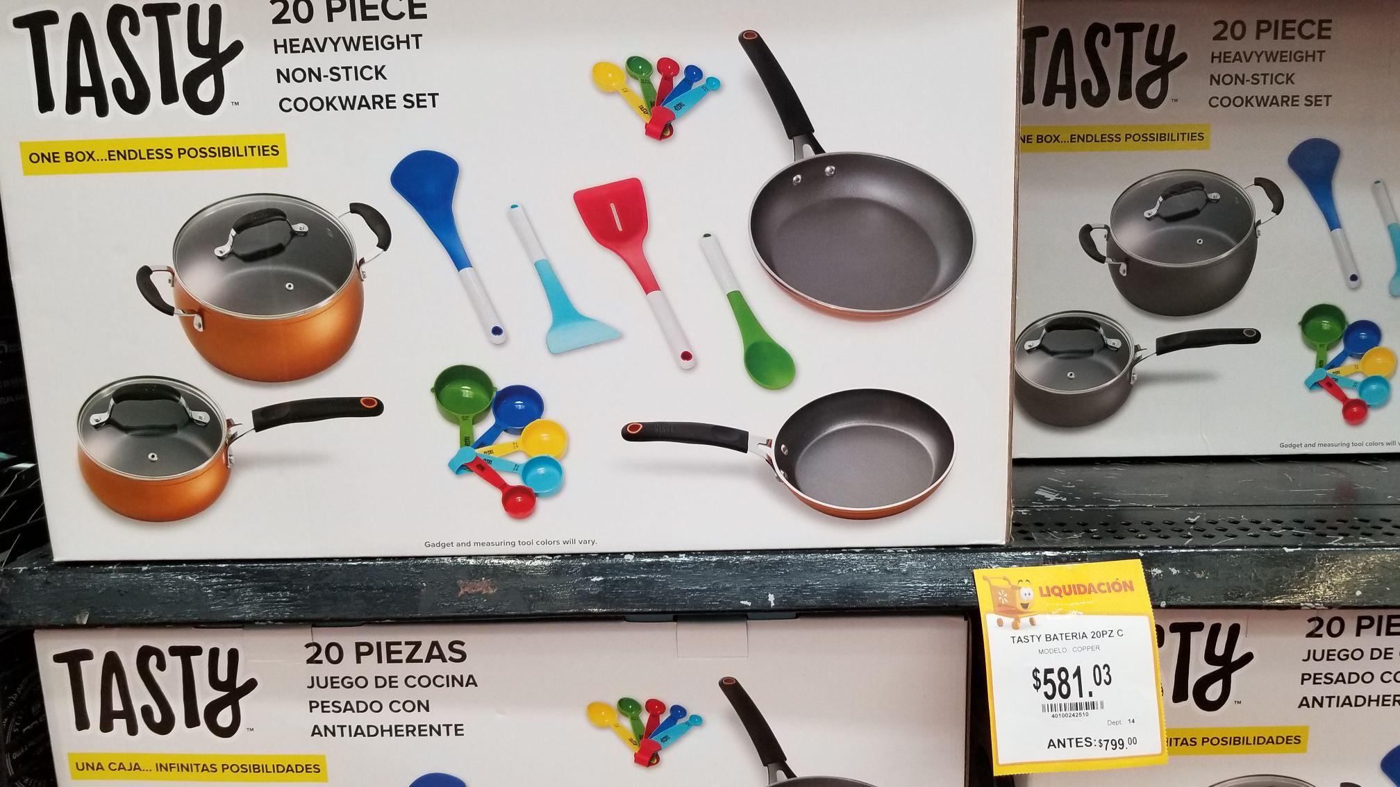 Walmart: Juego de Cocina Tasty 20 piezas