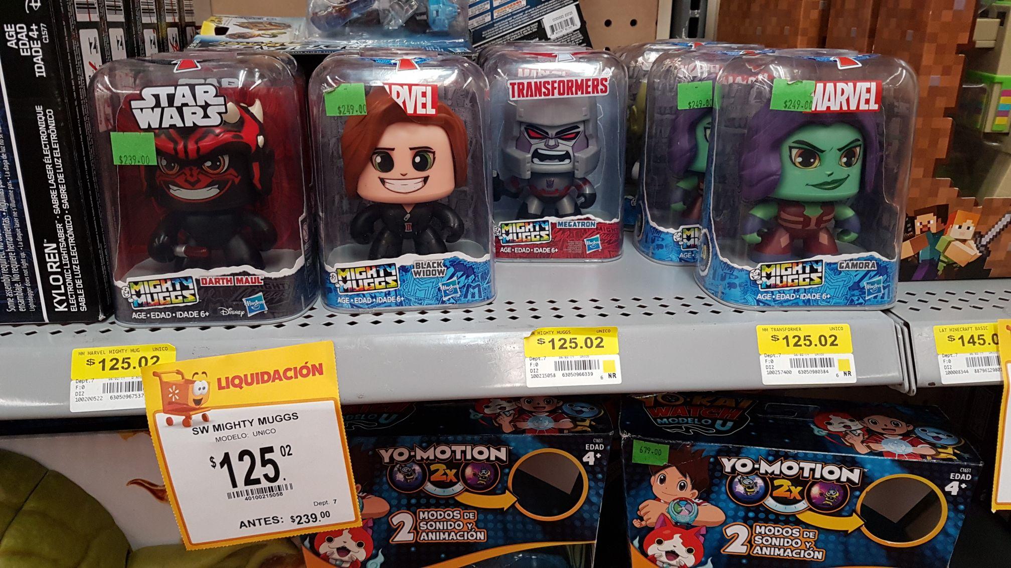 Walmart: Mighty muggs de Star wars en liquidación