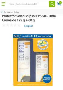 Sams. Bloqueador solar Eclipsol kit. FPS 50