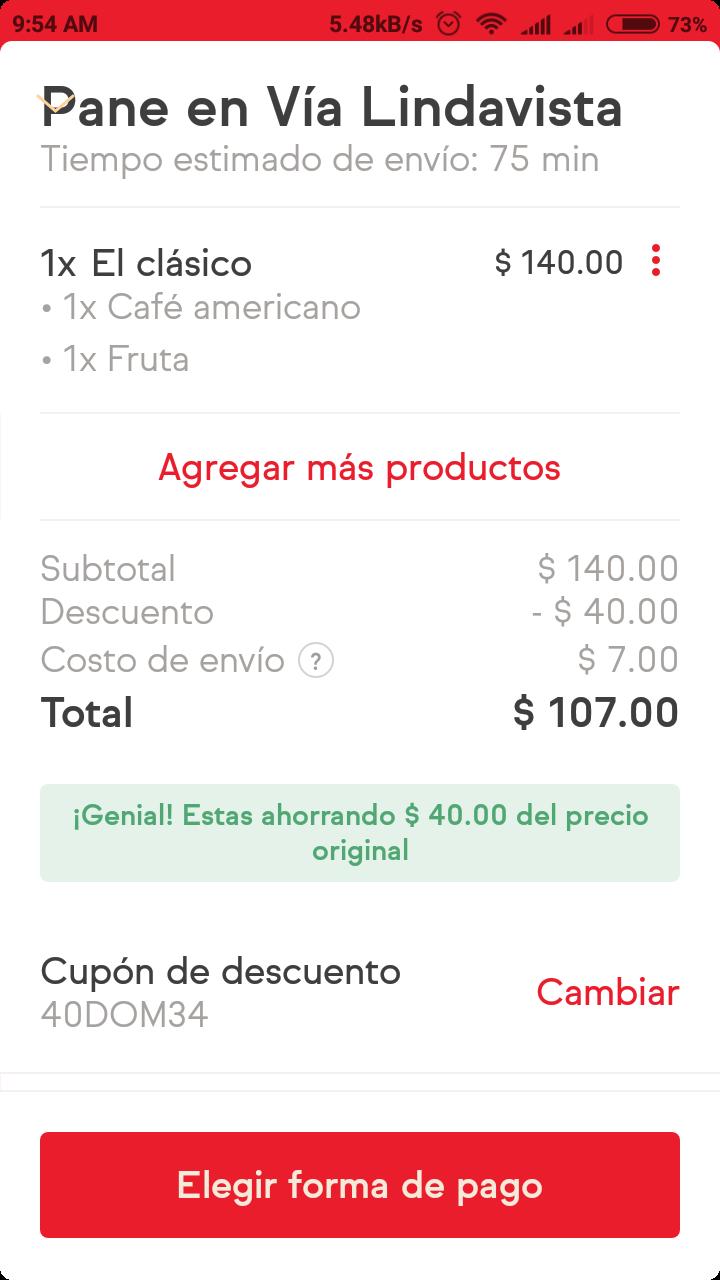 SinDelantal: Cupón $40 de descuento