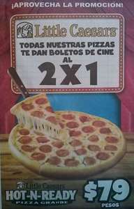 Little Caesar's Pizza: 2x1 para el cine en todas las pizzas