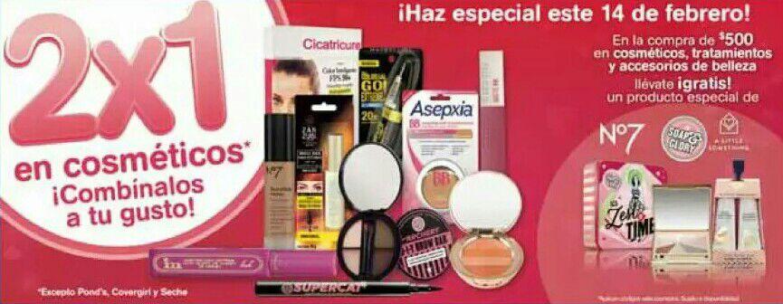 Farmacias Benavides: Ofertas del 11 al 13 de Febrero (incluye 2 x 1 en cosméticos)