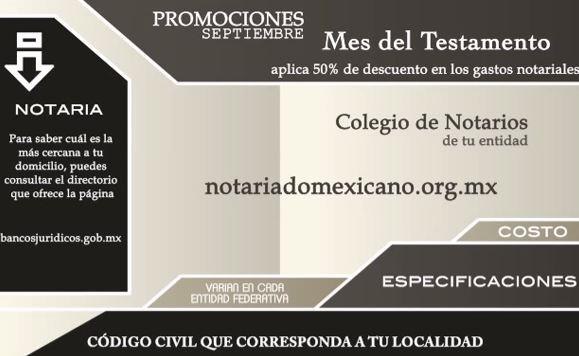 Mes del testamento: 50% de descuento en gastos notariales