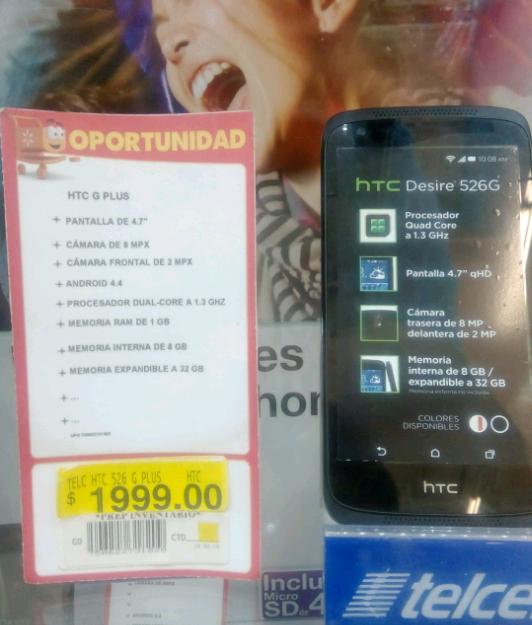 Walmart Tepeyac : HTC 526 $1999 Telcel