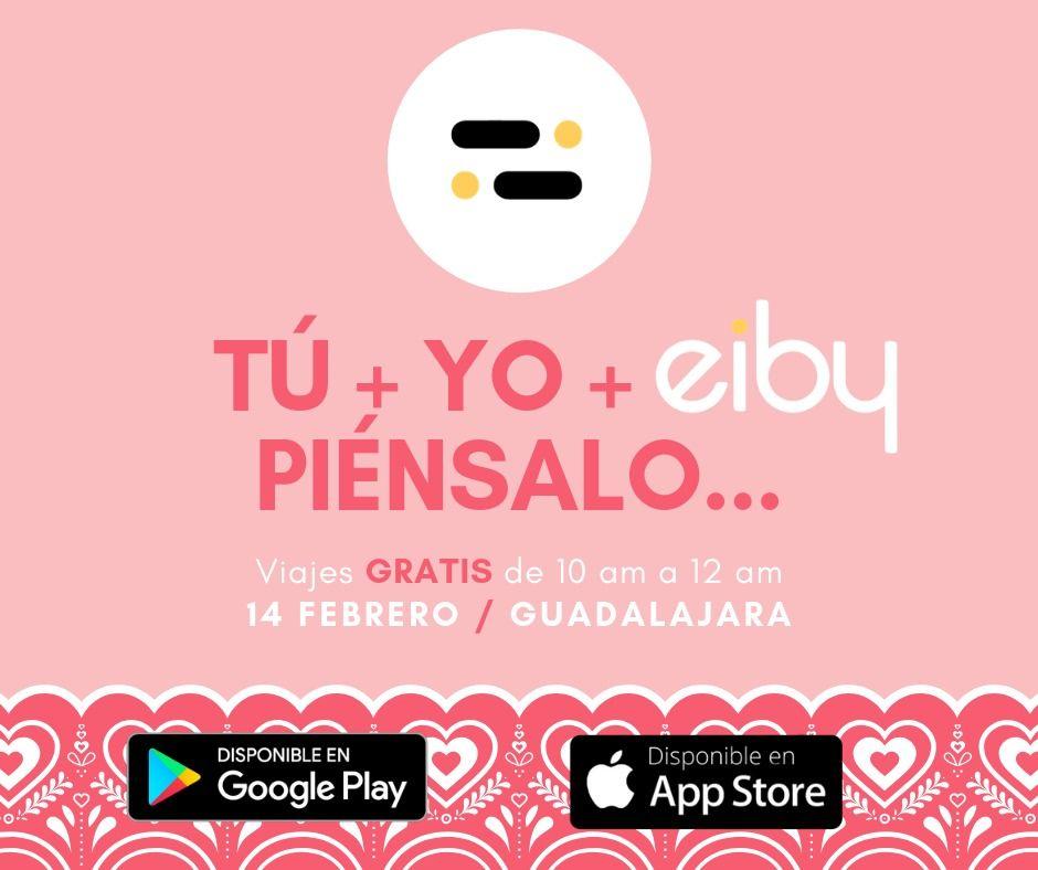 Eiby Taxi: Viajes gratis de taxi en Guadalajara el 14 de Febrero
