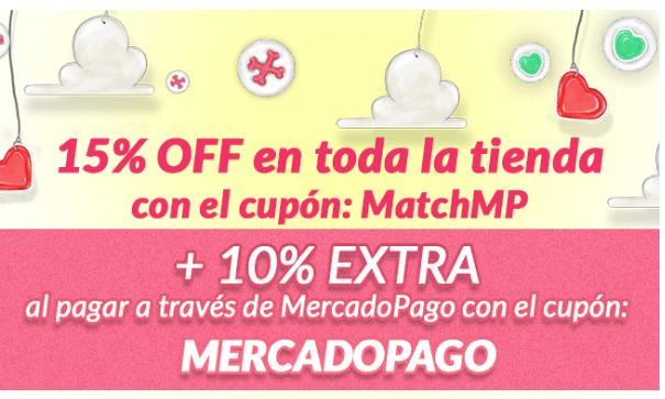 Petsy: 15% en toda la tienda con cupón MatchMP + 10% con MercadoPago.