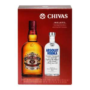 Sam's Club: Whisky Chivas Regal 12 750 ml mas Absolut Vodka 500 ml