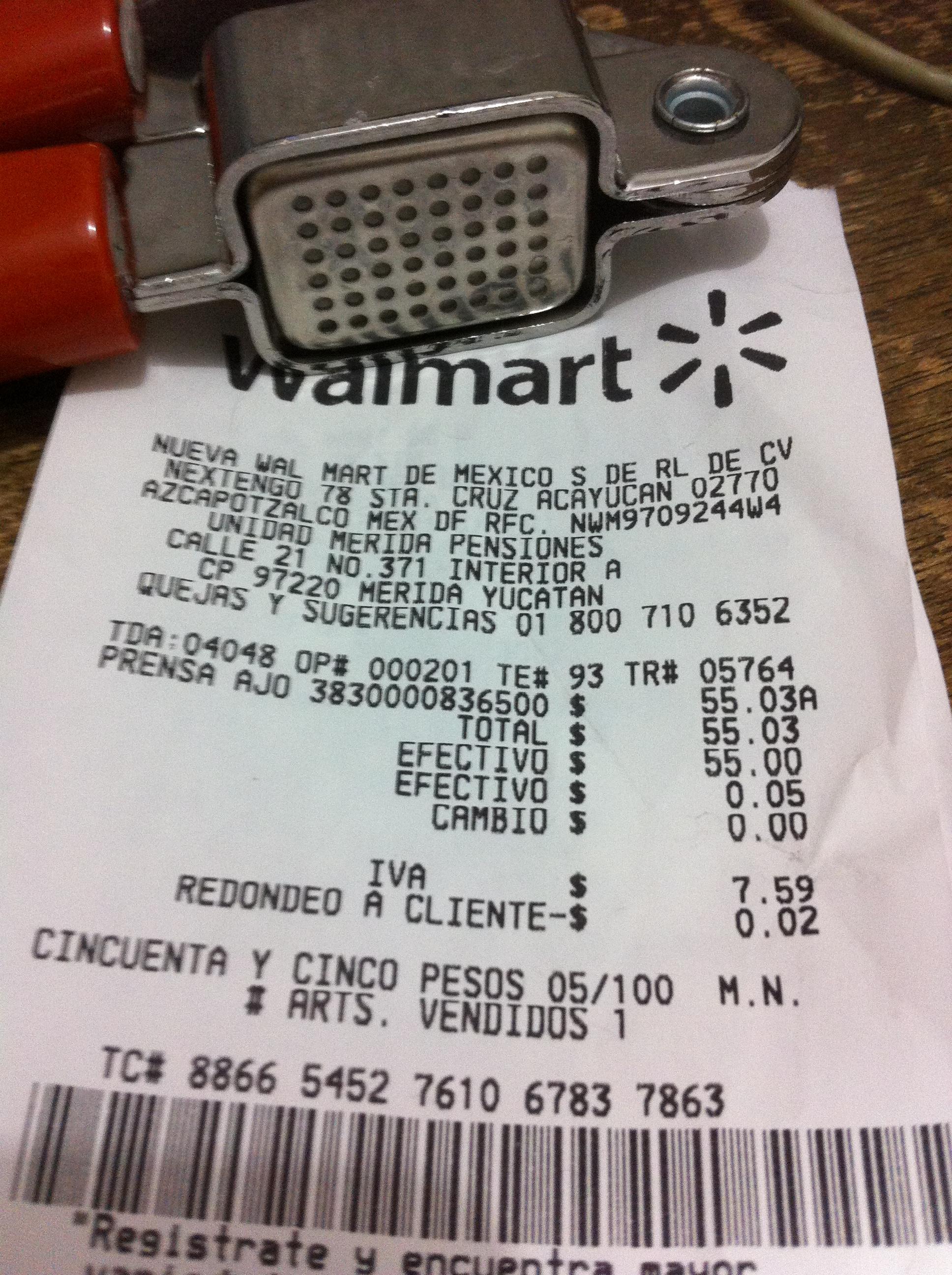 Walmart Merida: Prensa para ajos marca Geor $55.03