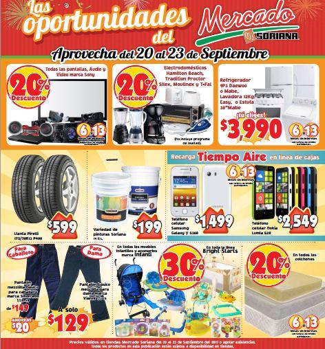 Mercado Soriana: 20% de descuento en Sony, electrodomésticos y más
