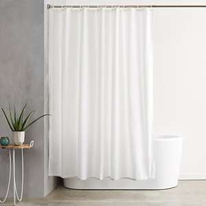 Amazon: Cortina de baño - 183 x 183 cm BLANCA