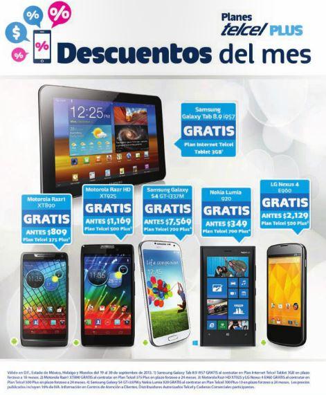 Nexus 4 gratis en plan Telcel 500 Plus de $499 al mes (R9)