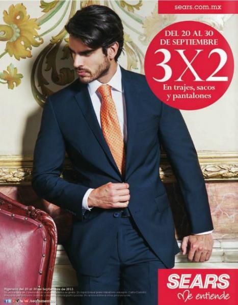 Sears: 3x2 en trajes, sacos, abrigos y pantalones