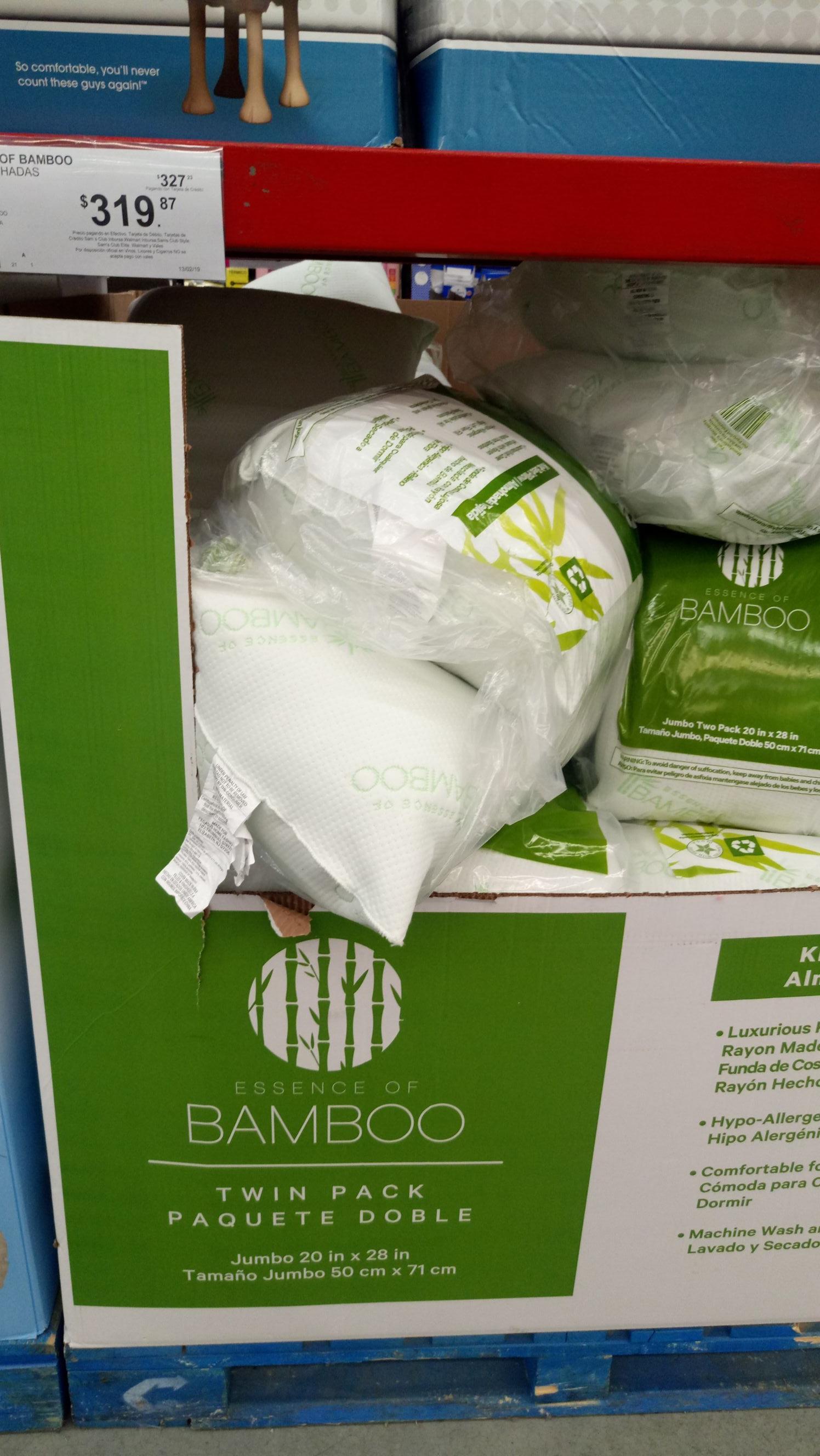 Sam's Club: Almohadas Bamboo
