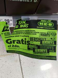 HEB : Chocolates HERSHEY´s Gratis el 2do