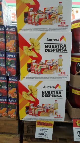 Bodega Aurrerá: Despensa c/13 productos $60 antes $89