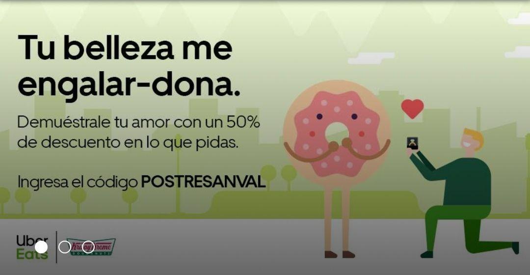 Uber eats - 50% en donas Krispy Kreme y más