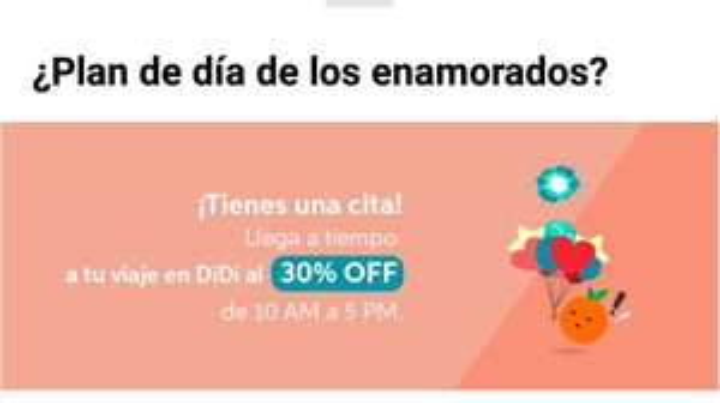 Didi: 30% De Descuento En Viajes de 10:00 a 5:00