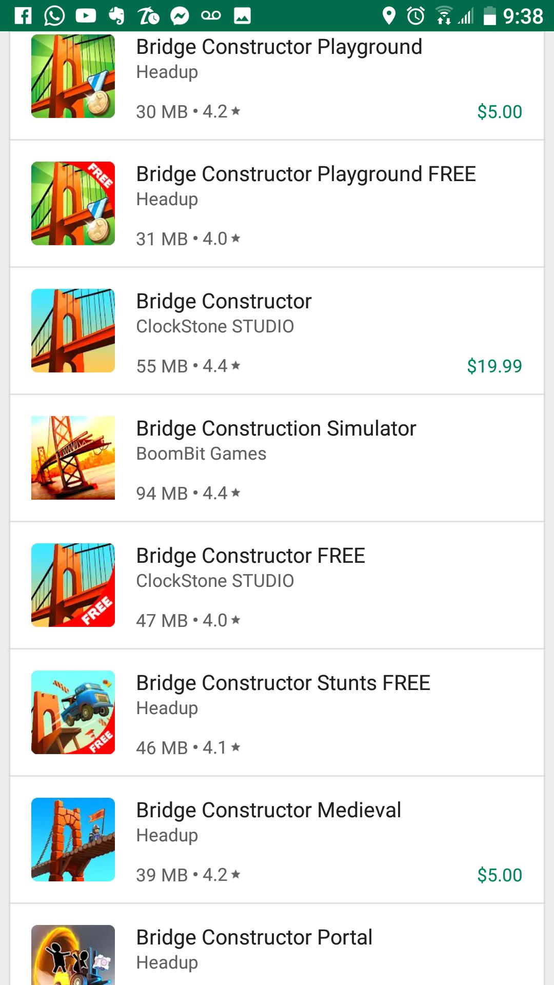 Google Play: Varios Bridge Constructor en Oferta