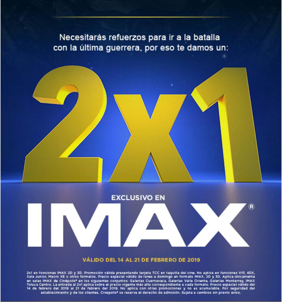 Cinépolis: 2x1en IMAX (salas seleccionadas)