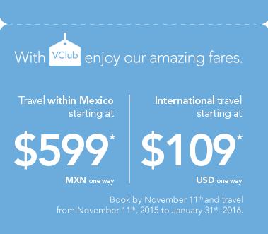 Volaris solo hoy boletos Nacionales en 600 Pesos!  con VClub