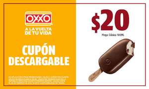 Oxxo: Cupón Mega Clasica (Nestle) $20.00