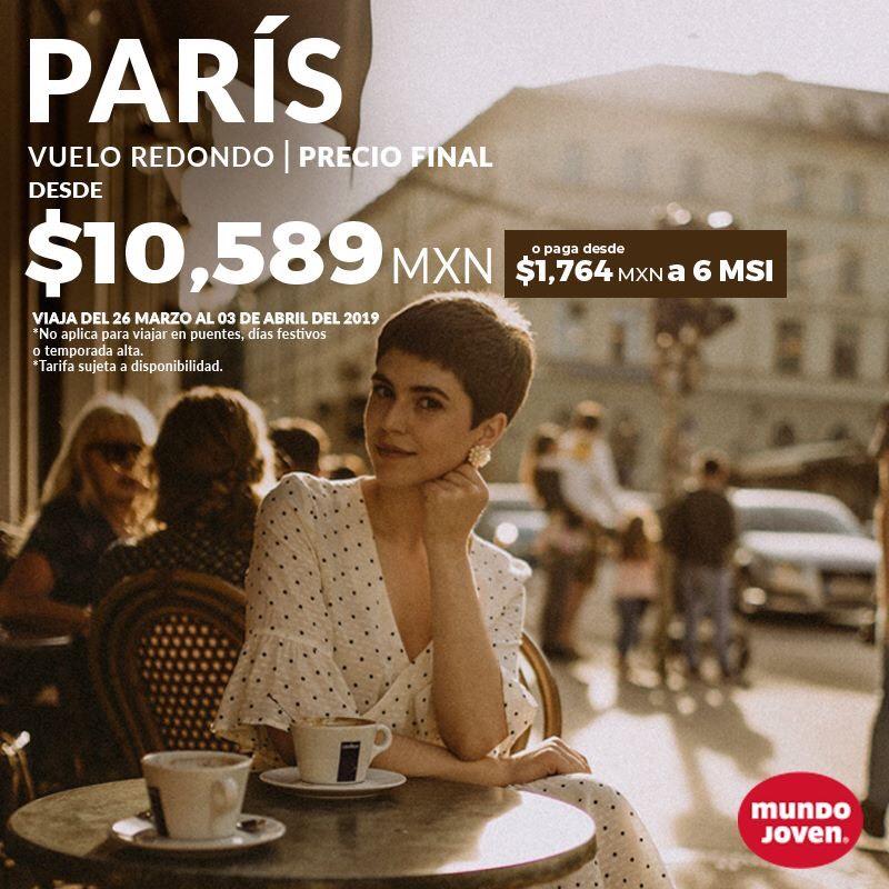 Mundo Joven: Vuelo Redondo CDMX-Paris
