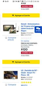 Best Buy: Sintonizador de tv android 120 pesos envio gratis