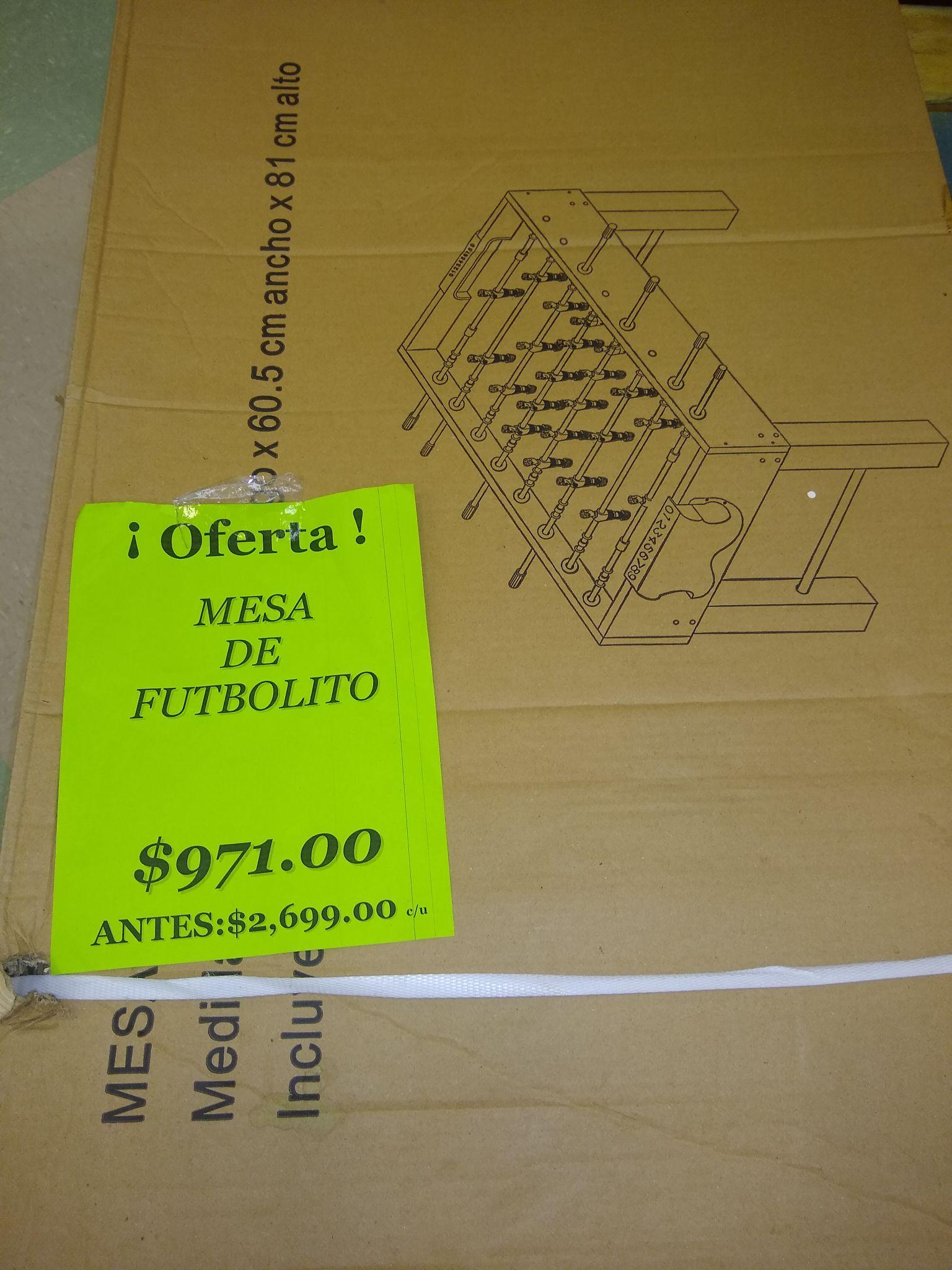 Soriana palmar, futbolito De $2,699 a $971