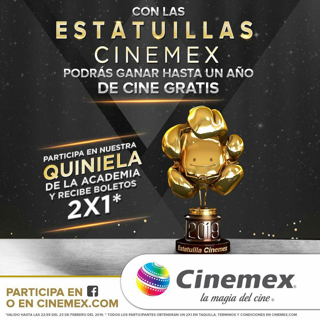 Cinemex: 2x1 con solo participar en quiniela cinemex