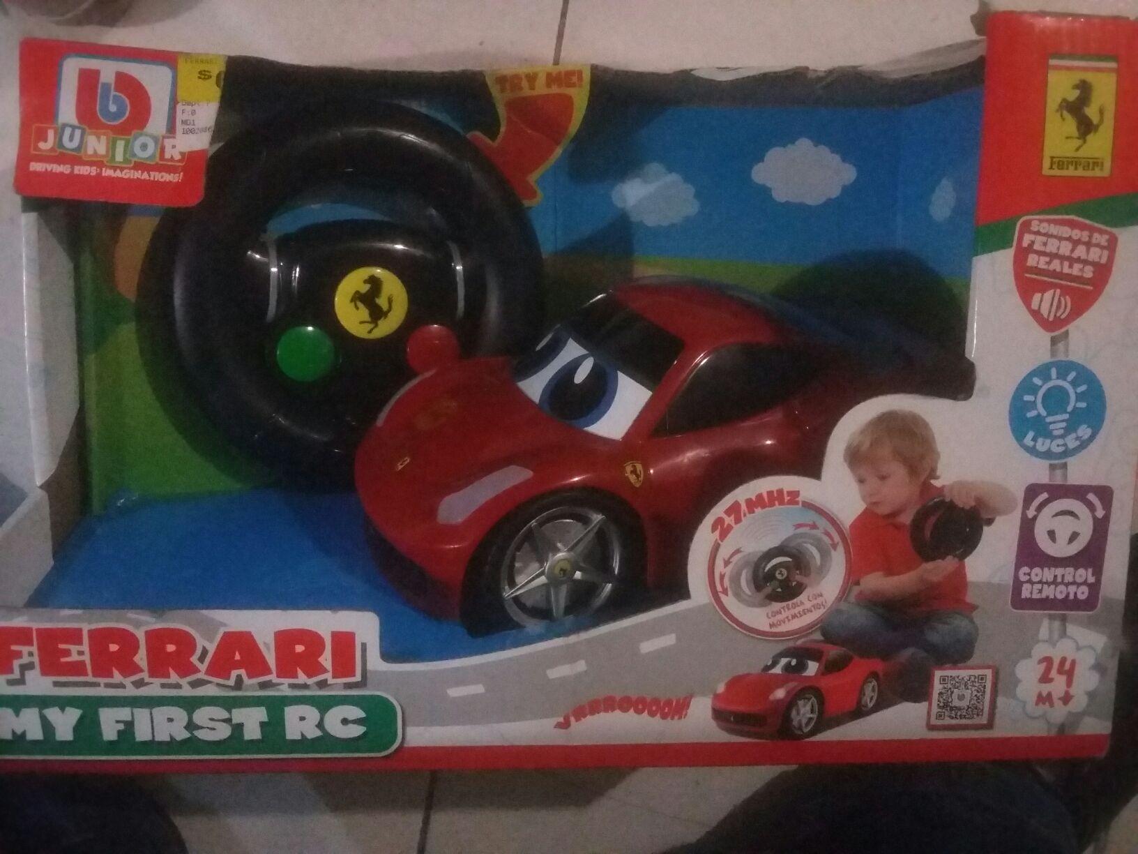 Walmart. Ferrari my firts rc de 699.03 a 244.03