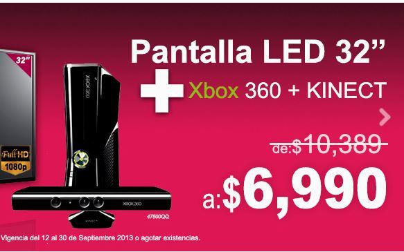 Viana: pantalla LED LG 32LN536BA y Xbox 360 con Kinect $6,990