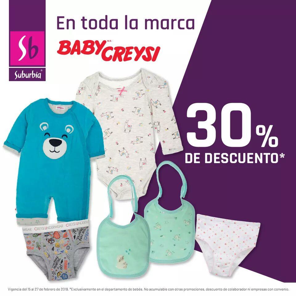 Suburbia: 30% de descuento en Baby Creysi