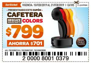Soriana Soriticket: Cafetera Dolce gusto Colors $799