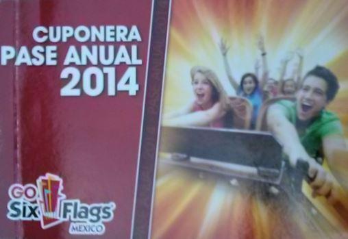 Cuponera del pase anual Six Flags 2014 (ofertas completas)