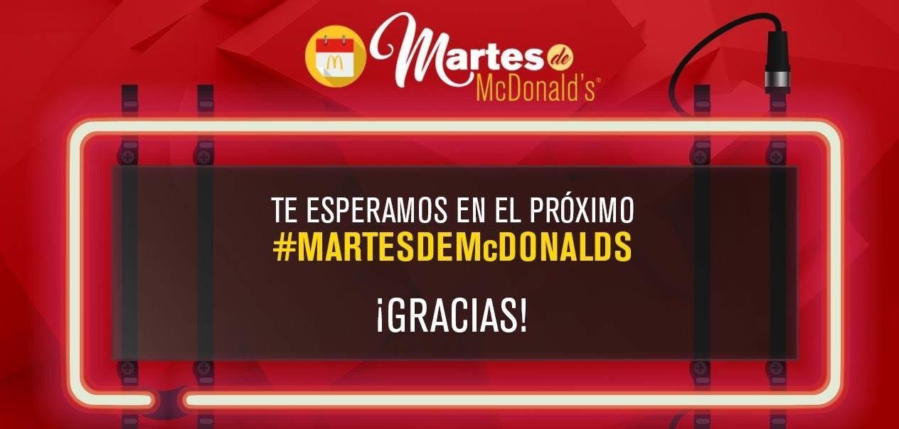McDonald's: Martes de McDonald's a 19 de Febrero