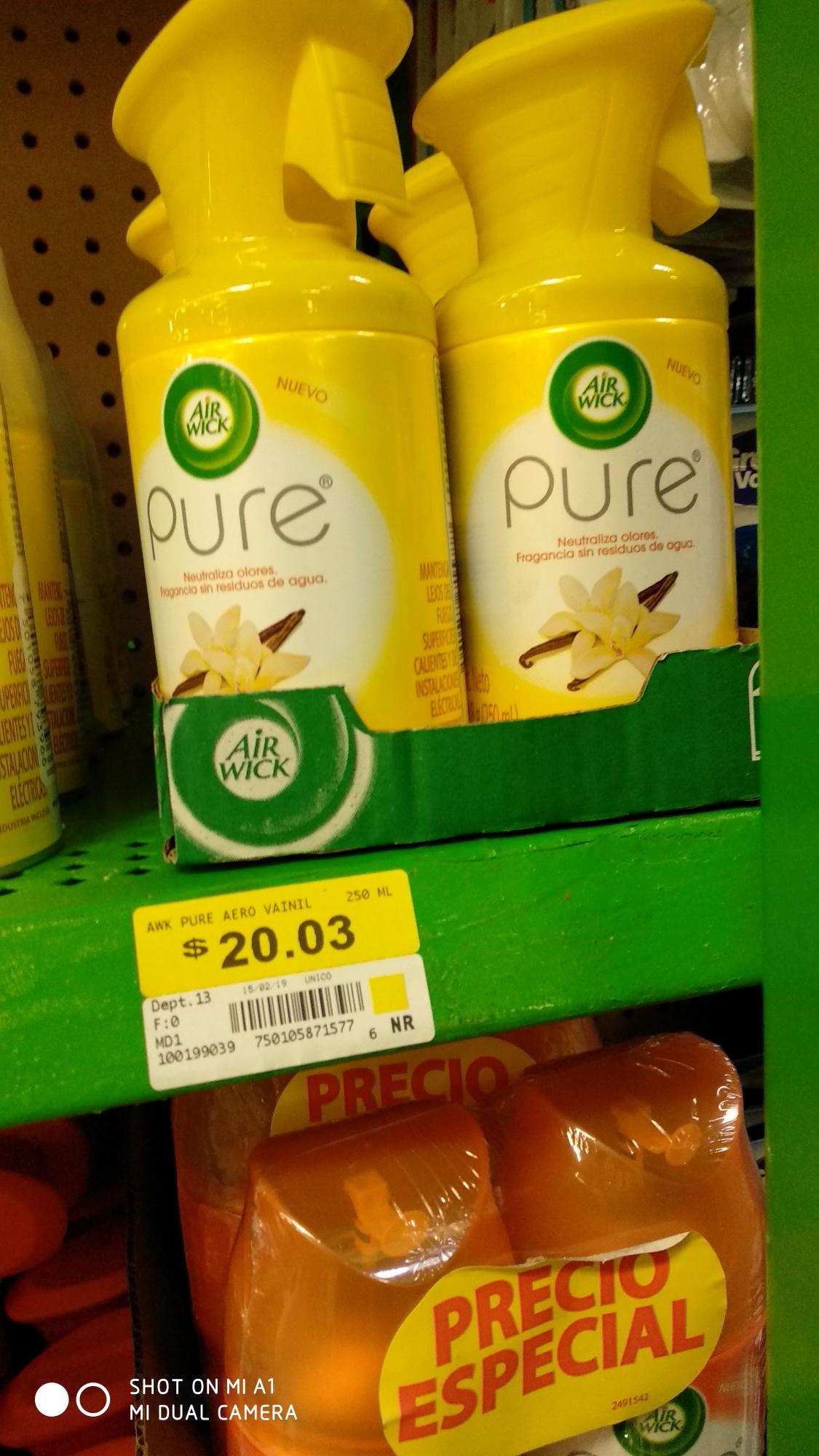 Bodega Aurrerá: Aromatizante Air Wick vainilla $20, jabones y mas