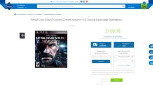 Sam's Club: Metal Gear Solid V: Ground Zeroes PS3