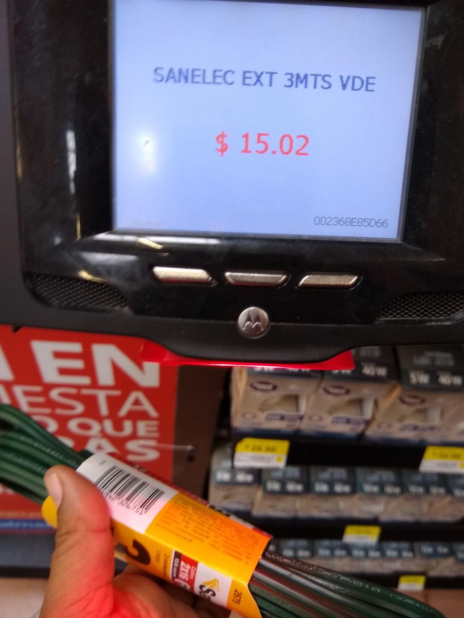 Walmart extención de 3 metros en $15.02