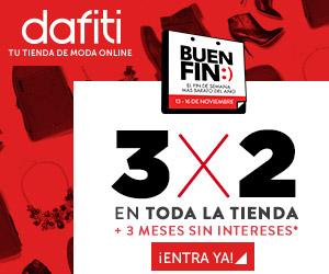 Promociones del Buen Fin en Dafiti: 3x2 en todo incluyendo rebajas