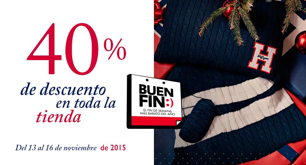 Tommy Hilfiger en linea Buen Fin 2015:  40% desc. en toda la tienda