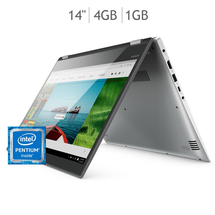 """Costco: Lenovo Yoga laptop 2 en 1 14"""" Intel® Pentium® 4415U + $1,001 en productos utilizando el cupón de Paypal"""