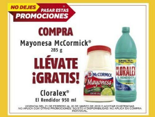 Oxxo: Compra Mayonesa McCormick 285g. Y llévate GRATIS  Cloralex 950 ML. (Válido apartir de mañana) **Solo En algunas sucursales