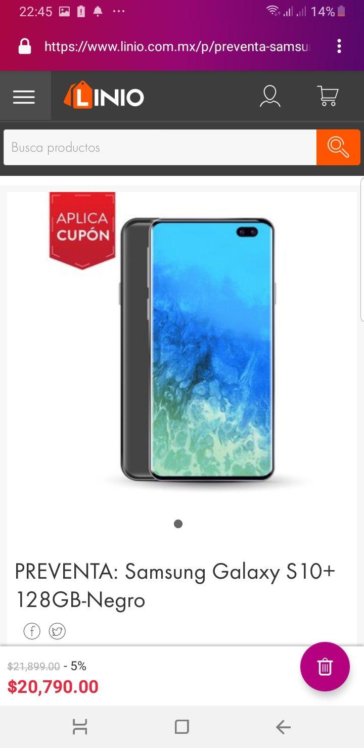 Linio: Samsung Galaxy s10 y s10+