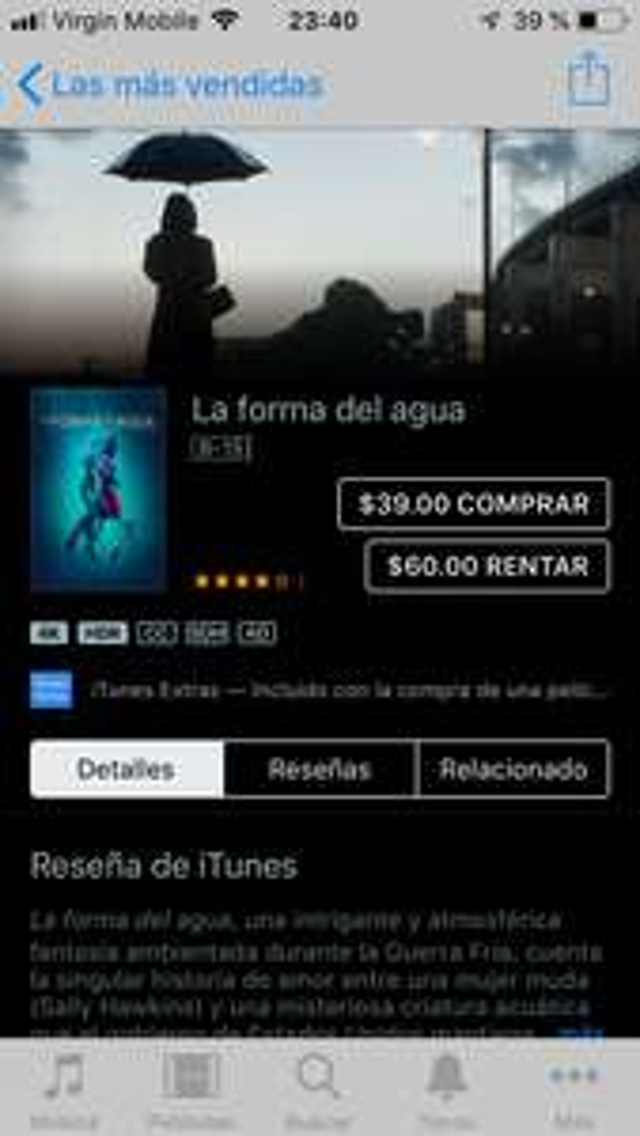 ITunes: La forma del agua por Guillermo del Toro