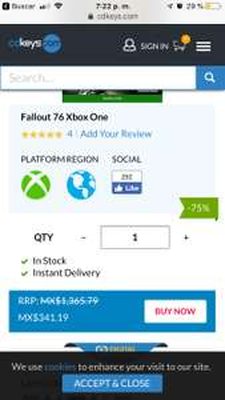 cdkeys: Fallout 76 Xbox one