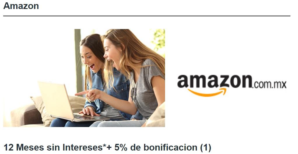 Amazon y HSBC 12 Meses sin Intereses+ 5% de bonificación del 22 al 25 de Febrero