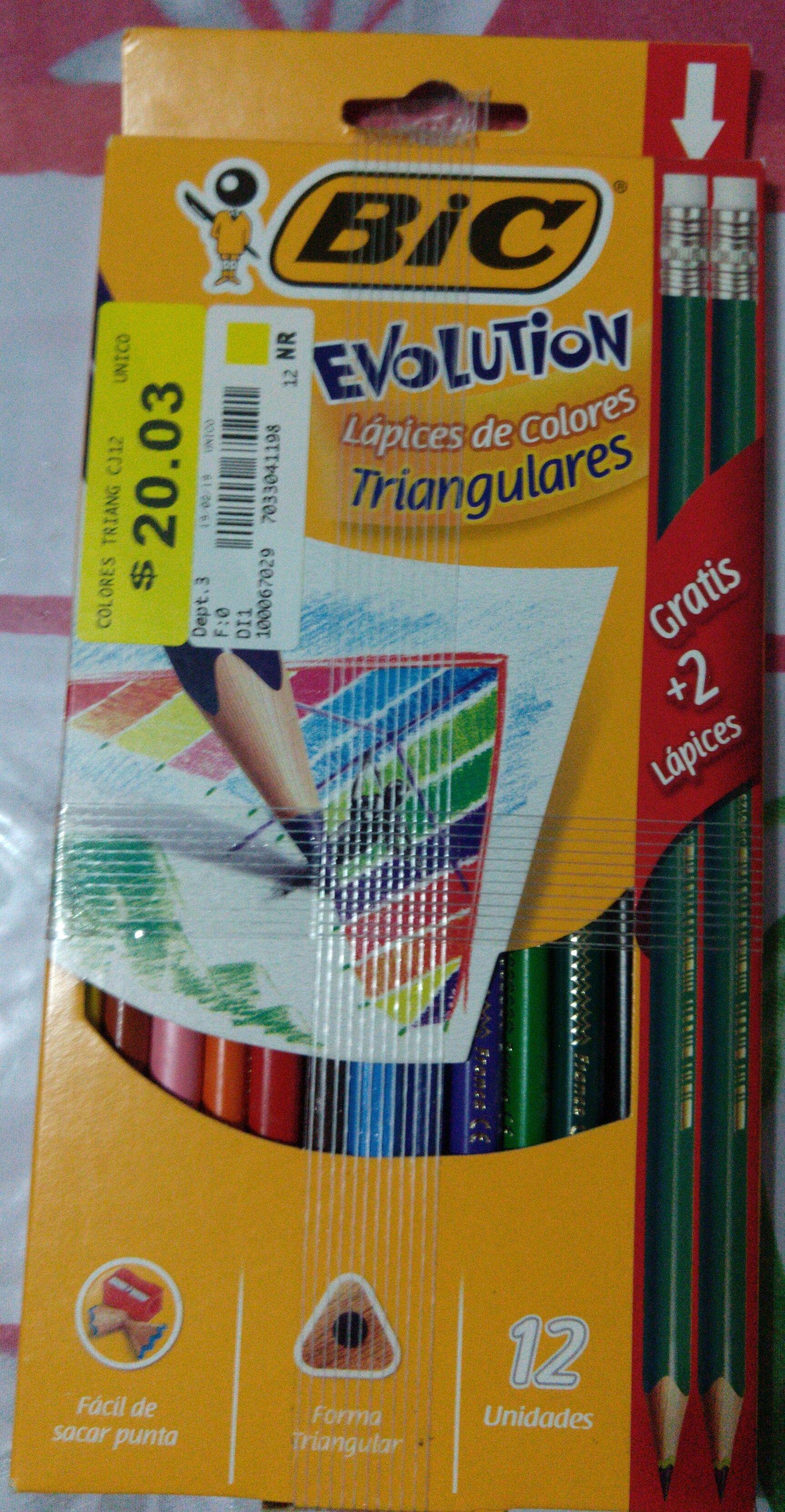 Walmart Colores Bic12 pz+2 lápices de regalo.
