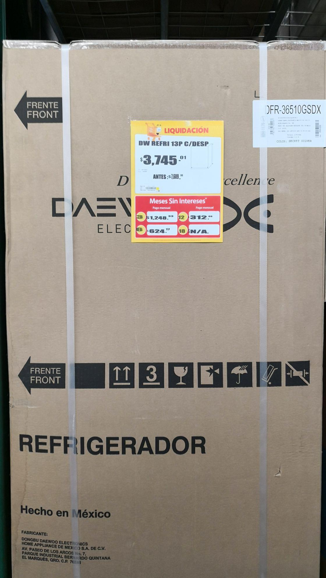 Walmart: Refrigerador Daewoo