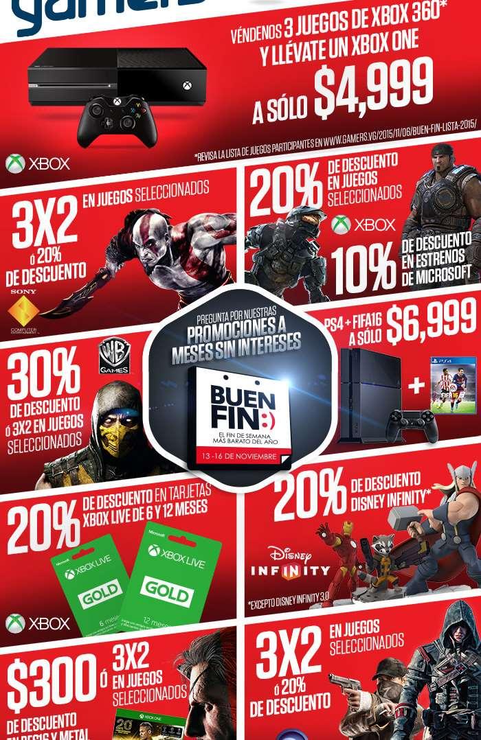 Promociones completas del Buen Fin en Gamers