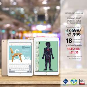 Sam's Club: Ofertas del Buen Fin en iPad Mini y iPad Air